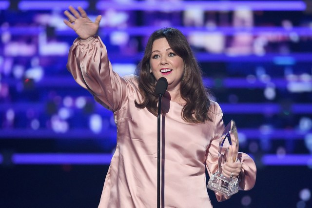 LOS ANGELES, CA - JANUARY 06: Actress Melissa McCarthy accepts Favorite Comedic Movie Actress award onstage during the People's Choice Awards 2016 at Microsoft Theater on January 6, 2016 in Los Angeles, California. (Photo by Kevin Winter/Getty Images)