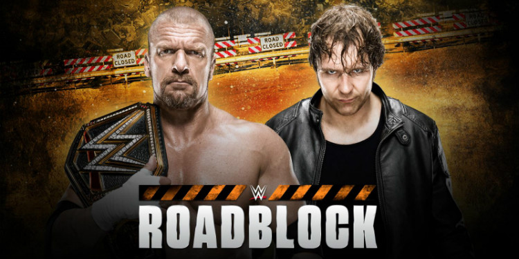 wwe roadblock triple h dean ambrose