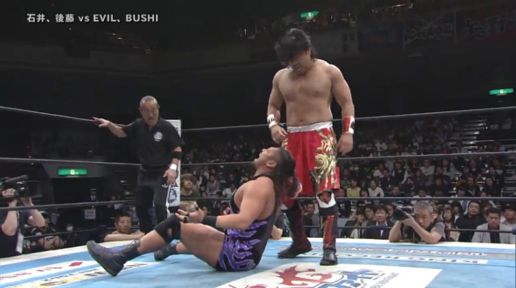 njpw invasion attack goto ishii vs evil bushi