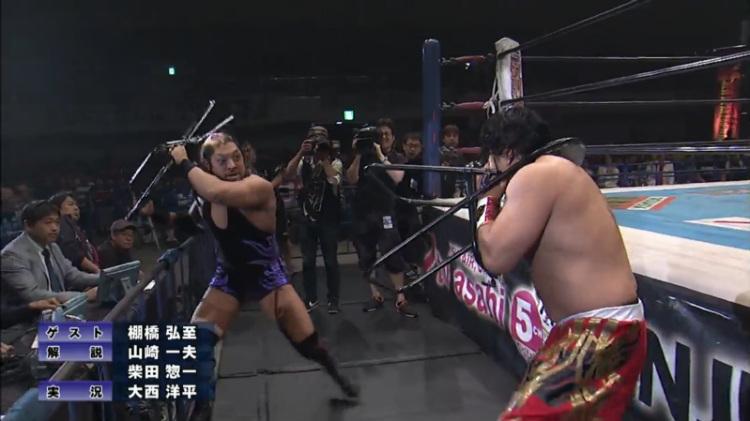 njpw wrestling dontaku evil vs hirooki goto
