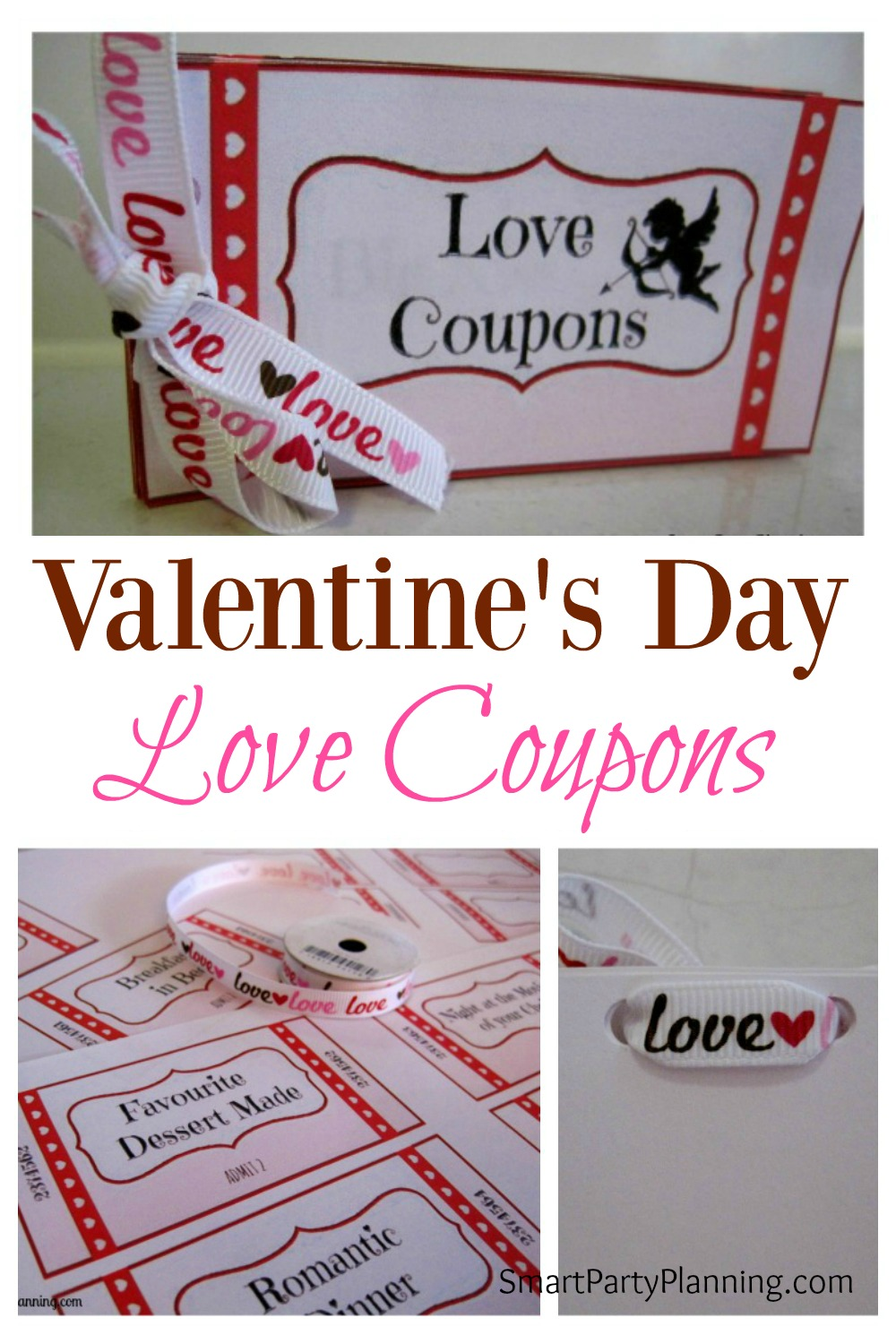 Treat someone you love with this set of love coupons. Ready made coupons and blank ones for you to be creative. It's an awesome gift for Valentine's Day.