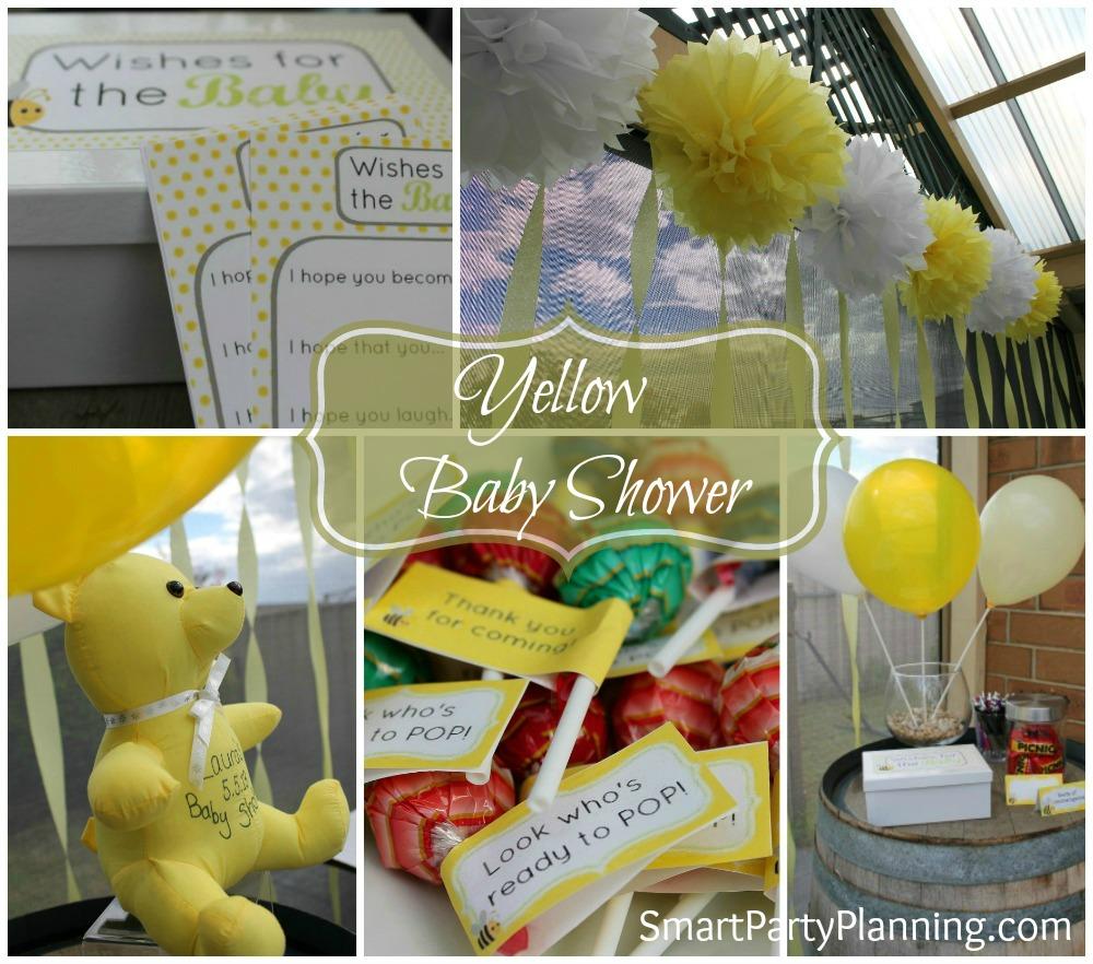 Yellow baby shower