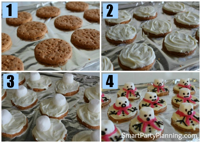 How to make melted snowman cookies