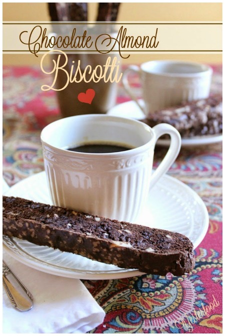 Chocolate Almond Biscotti by Yesterfood Valentines