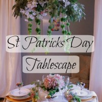 Soft & Romantic St Patricks Day Tablescape