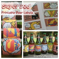 Pritnable Beer Labels For Super Dad