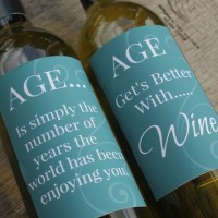 Printable Aged Wine Labels