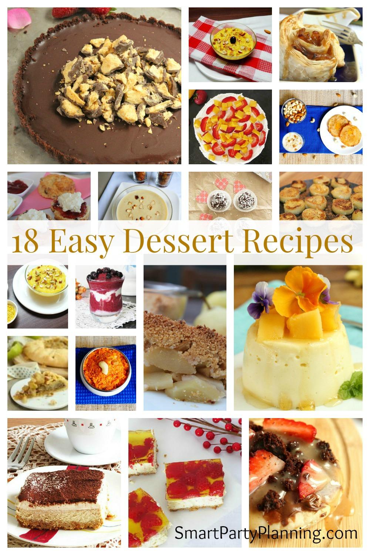 18 Easy Dessert Recipes