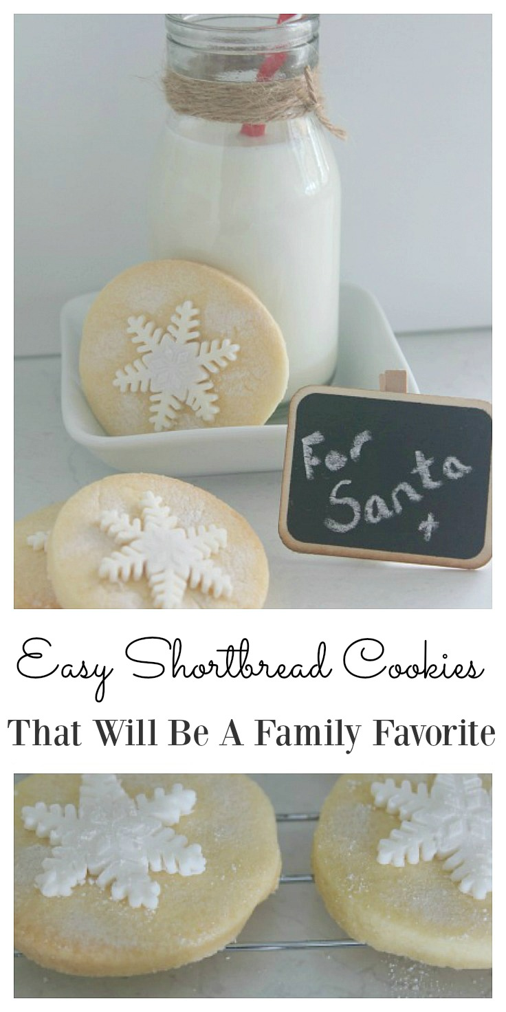 Easy and delicious shortbread snowflake cookie recipe. They are perfect for Christmas celebrations with the adorable snowflake topper.  Kids also love them at a Frozen theme party. The whole family will enjoy them and it will be the best shortbread recipe you will find.