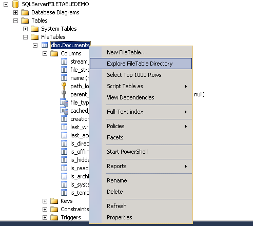 File Table in SQL Server 2012  - Great flexibility to manage filestream data (2/6)