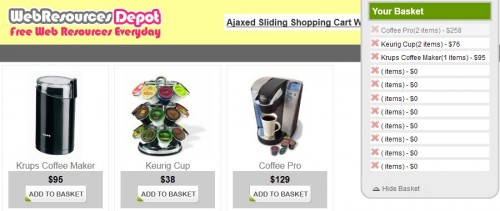 jquery shopping cart plugin 11 13 jQuery Shopping Cart Plugin and Tutorial