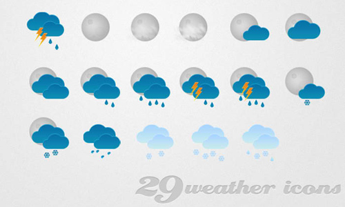 weather icon set 13 35 Free Weather Icon Set