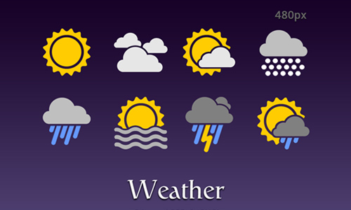 weather icon set 15 35 Free Weather Icon Set