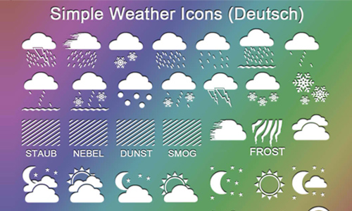 weather icon set 20 35 Free Weather Icon Set