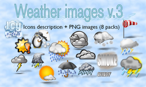 weather icon set 24 35 Free Weather Icon Set