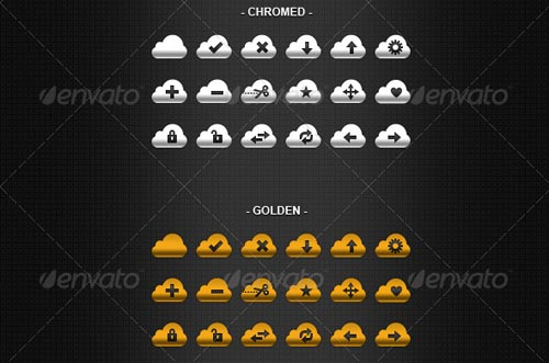 best premium cloud icons set 05 38 Best Premium Cloud and Forecast Icons Set