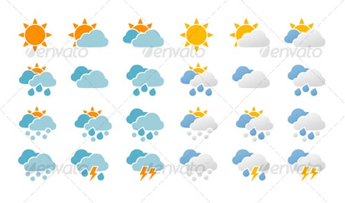 best premium cloud icons set 11 38 Best Premium Cloud and Forecast Icons Set