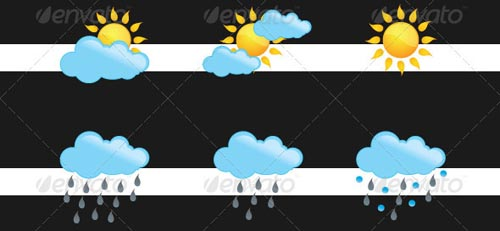best premium cloud icons set 19 38 Best Premium Cloud and Forecast Icons Set