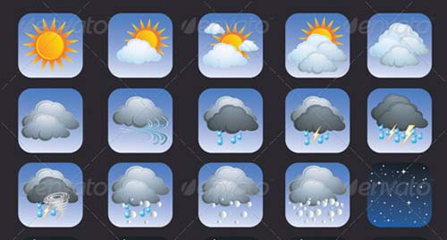 best premium cloud icons set 25 38 Best Premium Cloud and Forecast Icons Set