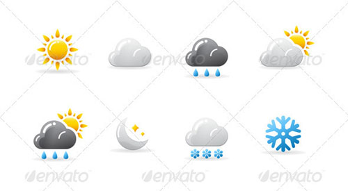 best premium cloud icons set 34 38 Best Premium Cloud and Forecast Icons Set