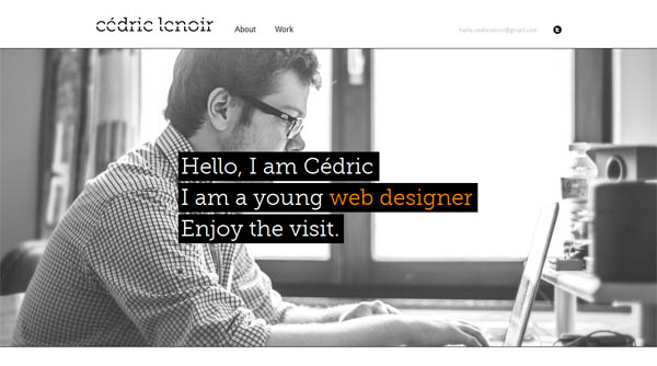 cedriclenoir Web Design Inspiration #5