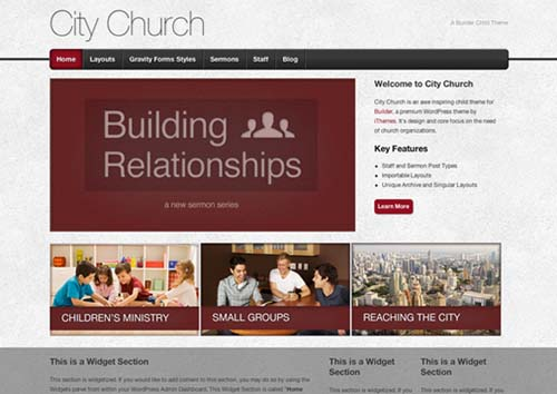 free and premium church wordpress themes City Church 30 Free and Premium Church Wordpress Themes