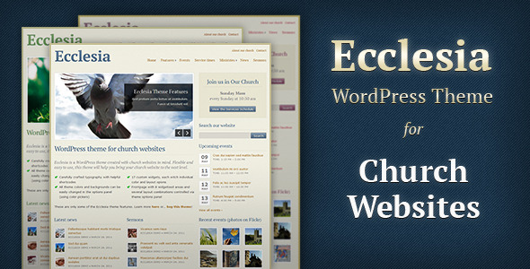 free and premium church wordpress themes Ecclesia 30 Free and Premium Church Wordpress Themes