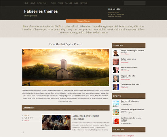 free and premium church wordpress themes Faith 30 Free and Premium Church Wordpress Themes