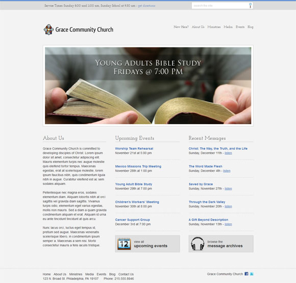 free and premium church wordpress themes Stylish Church 30 Free and Premium Church Wordpress Themes