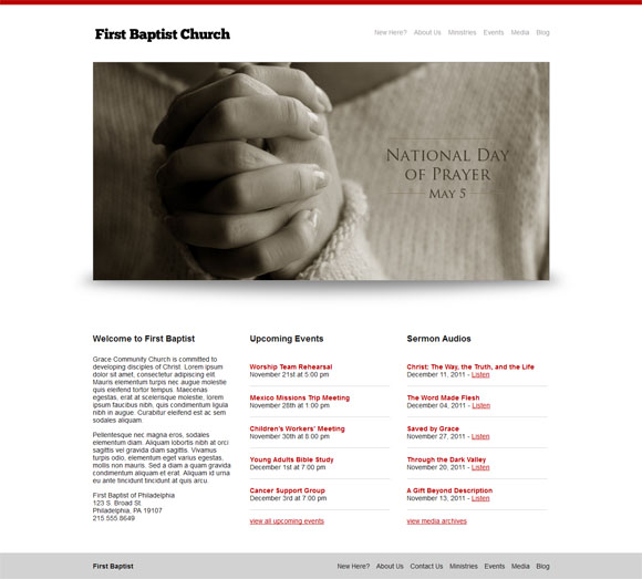 free and premium church wordpress themes baptist 30 Free and Premium Church Wordpress Themes