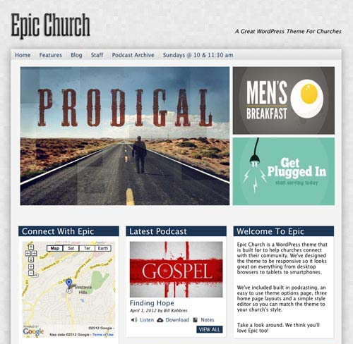 free and premium church wordpress themes epic 30 Free and Premium Church Wordpress Themes