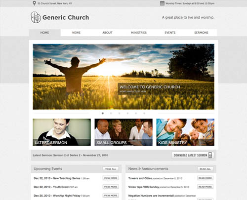 free and premium church wordpress themes moses 30 Free and Premium Church Wordpress Themes