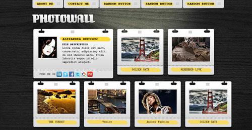 free portfolio html website templates 08 15 Free Portfolio HTML Website Templates