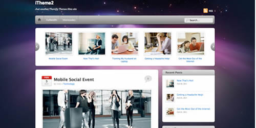 itheme2 mobile wordpress themes 14 Free Mobile WordPress Themes and Plugin