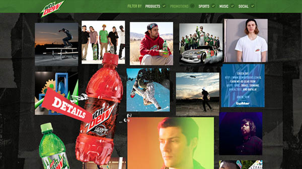 mountain dew Web Design Inspiration #4