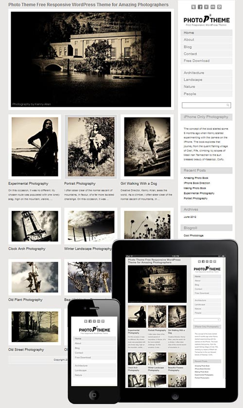 photo theme responsive 30+ Responsive Photography Wordpress Themes