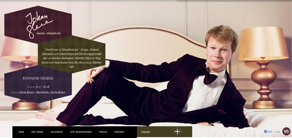 Johan Glans Web Design Inspiration #7