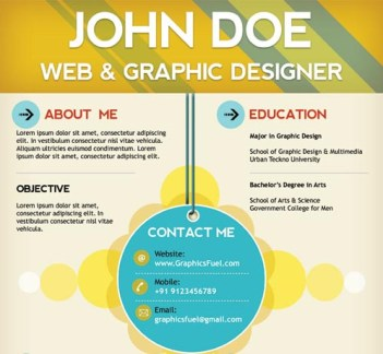 creative resume template 01 22 Free Creative Resume template