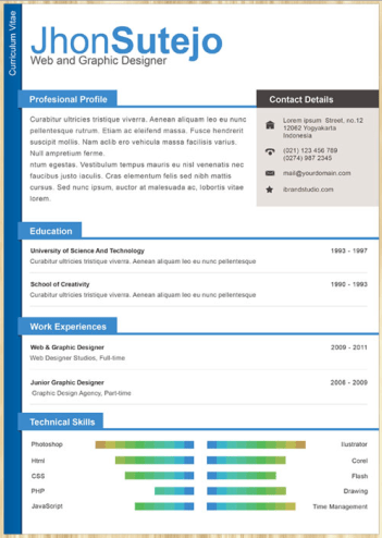creative resume template 04 22 Free Creative Resume template