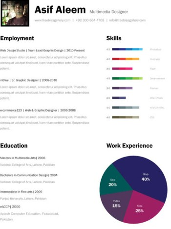 creative resume template 05 22 Free Creative Resume template