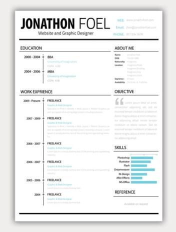 22 Free Creative Resume template   Smashfreakz R3XfZyGS
