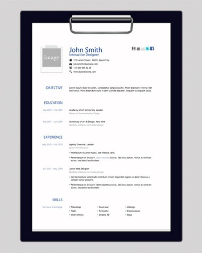 creative resume template 12 22 Free Creative Resume template