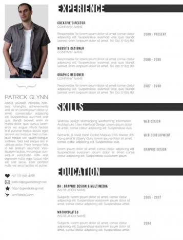 creative resume template 17 22 Free Creative Resume template