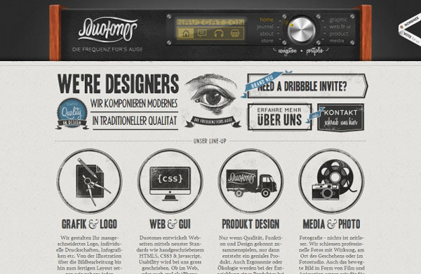 duotones Web Design Inspiration #9