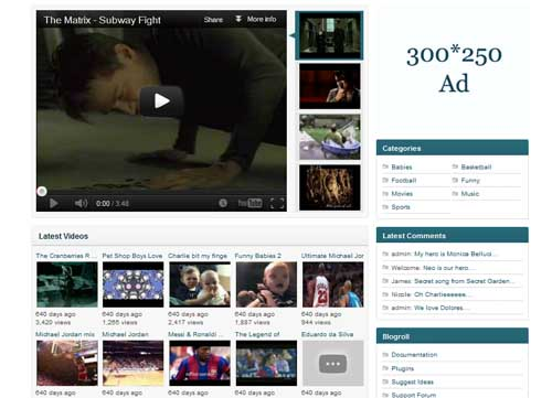 free video wordpress themes 03 11 Free Video Wordpress Themes