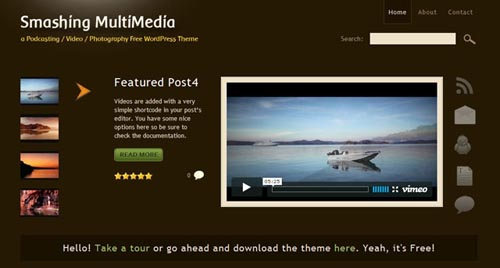 free video wordpress themes 06 11 Free Video Wordpress Themes