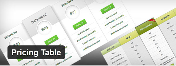 wordpress pricing table plugins 01 10 Free and Premium Wordpress Pricing Tables Plugins