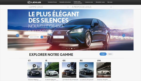 Lexus Web Design Inspiration #13