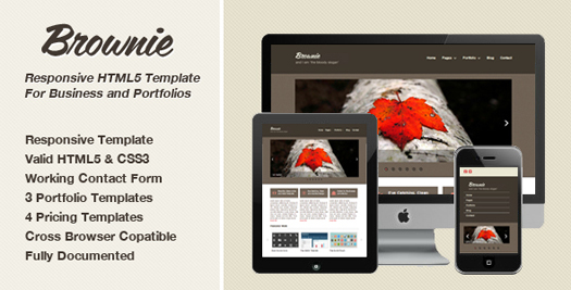 free responsive html website templates brownie 12 Free Responsive HTML Website Templates