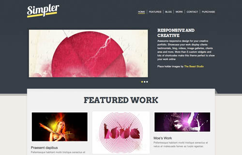 free responsive html website templates simpler 12 Free Responsive HTML Website Templates